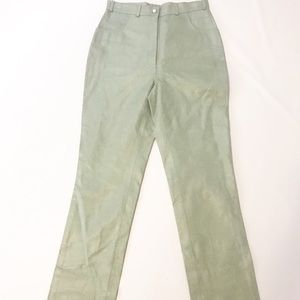 paolo santini sage High Rise suede leather pants